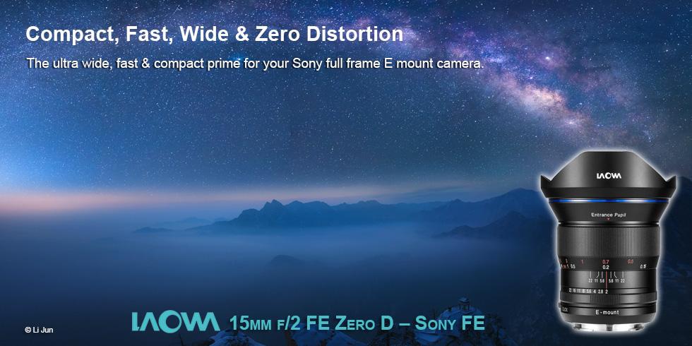 Laowa 15mm f/2 FE Zero D Sony FE